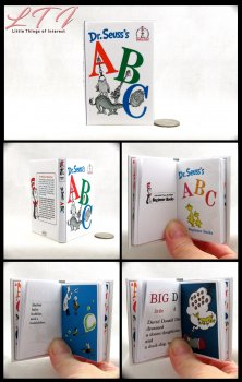 DR. SEUSS'S ABCS Illustrated Readable Miniature Scale Book