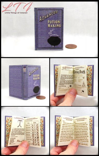 ADVANCED POTION MAKING Illustrated Readable Miniature Scale Book