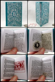 ADVANCED RUNE TRANSLATION Illustrated Readable Miniature Scale Book Popular Boy Wizard Potter