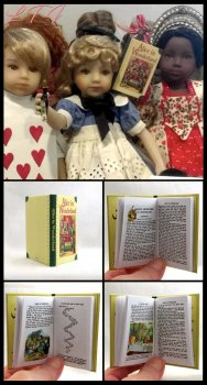 ALICE IN WONDERLAND Illustrated Readable Miniature Scale Book