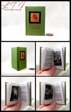 ANNE OF GREEN GABLES Illustrated Readable Miniature Scale Book
