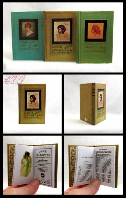 ANNE OF GREEN GABLES SET 3 Illustrated Readable Miniature Scale Book Anne of the Island Avonlea
