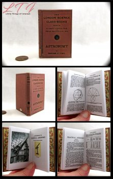 ASTRONOMY TEXTBOOK Illustrated Readable Miniature Scale Book