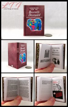 BEETLEJUICE Handbook of the Recently Deceased Illustrated Readable Miniature Scale Book