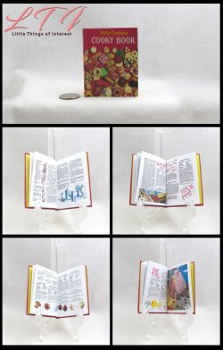 BETTY CROCKER CHRISTMAS COOKBOOK Illustrated Readable Miniature Scale Book