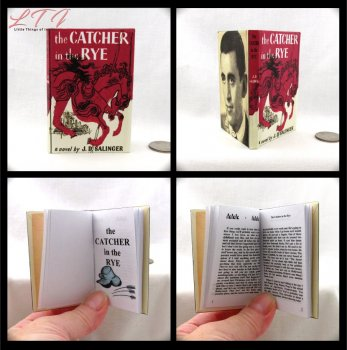 THE CATCHER IN THE RYE Illustrated Readable Miniature Scale Book