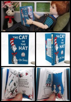 THE CAT IN THE HAT Illustrated Readable Miniature Scale Book Dr Seuss