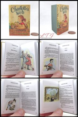 CHARLOTTE'S WEB Illustrated Readable Miniature Scale Book
