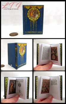 A CHRISTMAS CAROL Illustrated Readable Miniature Scale Book