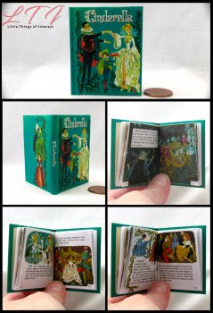 CINDERELLA Illustrated Readable Miniature Scale Book