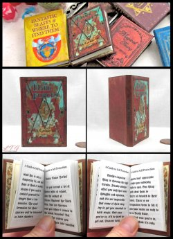 THE DARK FORCES A Guide to Self Protection MAGIC TEXTBOOK Illustrated Readable Miniature Scale Book