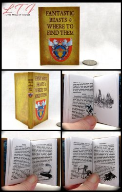 FANTASTIC BEASTS AND WHERE TO FIND THEM Illustrated Readable Miniature Scale Book