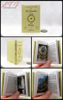 FELLOWSHIP OF THE RING Illustrated Readable Miniature Scale Book Tolken Lord of the Rings