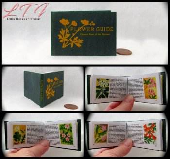 FLOWER GUIDE Illustrated Readable Miniature Scale Book