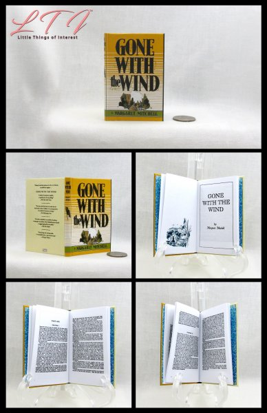 GONE WITH THE WIND Readable Miniature Scale Book