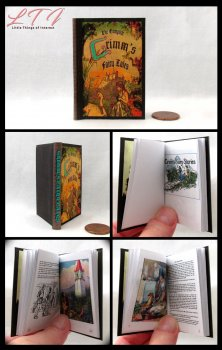 GRIMM'S FAIRY TALES Illustrated Readable Miniature Scale Book