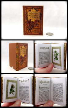 THE LANGUAGE OF FLOWERS Illustrated Readable Miniature Scale Book