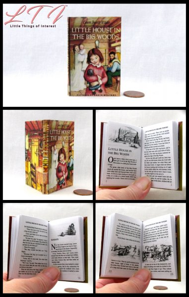 LITTLE HOUSE IN THE BIG WOODS Illustrated Readable Miniature Scale Book