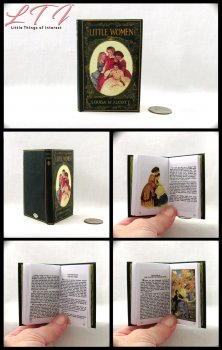 LITTLE WOMEN Illustrated Readable Miniature Scale Book