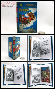 THE NIGHT BEFORE CHRISTMAS Illustrated Readable Miniature Scale Book