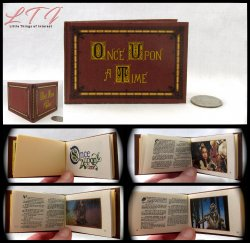 ONCE UPON A TIME Illustrated Readable Miniature Scale Book