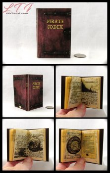 THE PIRATE CODEX Illustrated Readable Miniature Scale Book