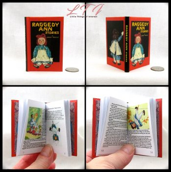 RAGGEDY ANN Illustrated Readable Miniature Scale Book