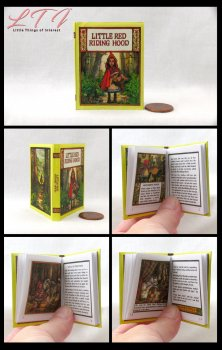 LITTLE RED RIDING HOOD Illustrated Readable Miniature Scale Book