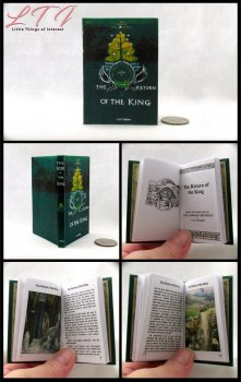 RETURN OF THE KING Illustrated Readable Miniature Scale Book