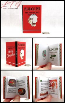 RUDOLPH THE RED NOSED REINDEER Illustrated Readable Miniature Scale Book