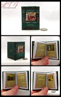 ILLUSTRATED SNOW WHITE Illustrated Readable Miniature Scale Book