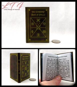 STANDARD BOOK OF SPELLS Readable Miniature Scale Book