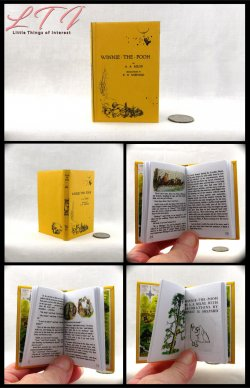 WINNIE THE POOH Illustrated Readable Miniature Scale Book