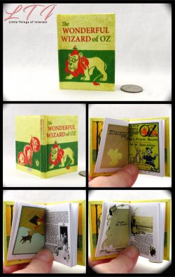 THE WONDERFUL WIZARD OF OZ Illustrated Readable Miniature Scale Book L. Frank Baum