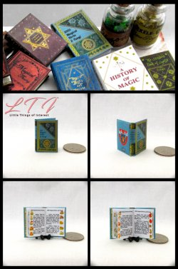 1000 MAGICAL HERBS & FUNGI Textbook Miniature One Inch Scale Illustrated Readable Book