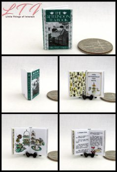 AFTERNOON TEA BOOK Miniature One Inch Scale Readable Illustrated Cookbook