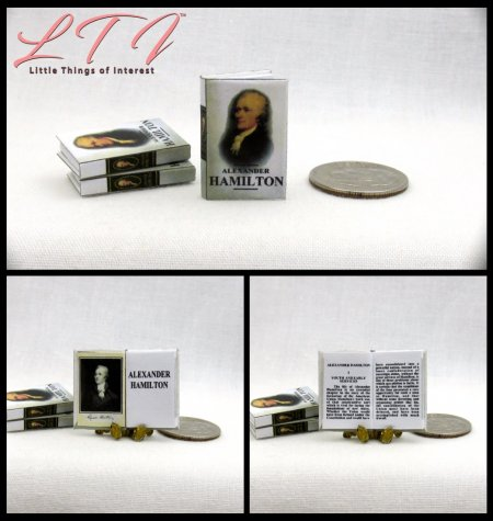 ALEXANDER HAMILTON Dollhouse Miniature Scale Readable Book