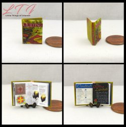 ALL ABOUT QUILTING Miniature One Inch Scale Illustrated Book