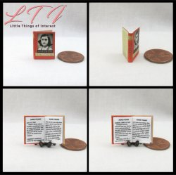ANNE FRANK DIARY OF A YOUNG GIRL Miniature One Inch Scale Readable Book