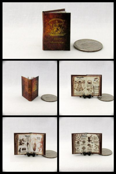 ARGENT BESTIARY Dollhouse Miniature Scale Readable Illustrated Book