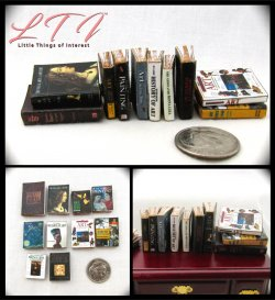 ART HISTORY 10 Miniature Prop Faux Books in One Inch Scale