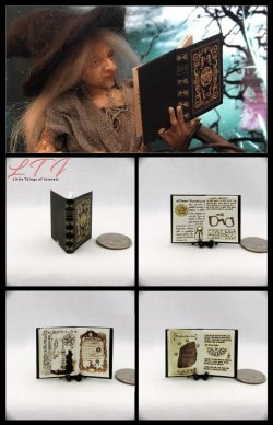 BEAUCHAMP GRIMOIRE SPELL Book Miniature One Inch Scale Illustrated Readable Book