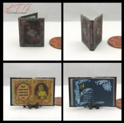 BOOK OF INCANTATIONS Miniature One Inch Scale Readable Illustrated Book