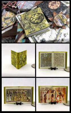 BOOK Of The LIVING Miniature One Inch Scale Illustrated Book of Amun-Ra