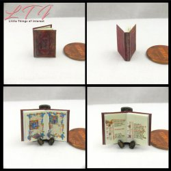 ADELAIDE'S HOURS An Illuminated Book of Hours in Miniature One Inch Scale Readable Illustrated Book