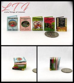 THE BORROWERS SET 5 Miniature One Inch Scale Readable Illustrated Books Afield Afloat Aloft Avenged