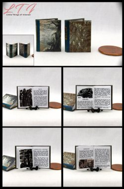 BRONTE SISTERS SET 2 Miniature One Inch Scale Readable Illustrated Books Wuthering Heights Jane Eyre