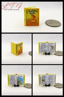 CHARLOTTE'S WEB Miniature One Inch Scale Illustrated Readable Book