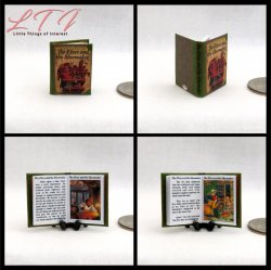 CLASSIC CHILDREN'S STORY BOOK SET 5 Miniature One Inch Scale Readable Illustrated Books Jack Bean Stalk Elves Shoe Maker Frog Prince