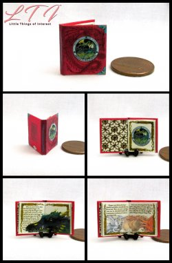 THE COMPLETE BOOK OF DRAGONS Miniature One Inch Scale Readable Illustrated Book